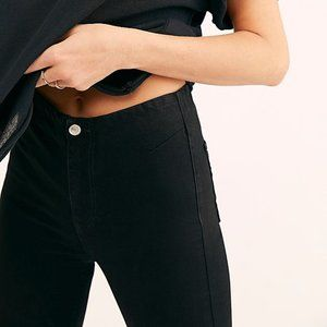 NWT Free People High-Waisted Black Skinny Jeans